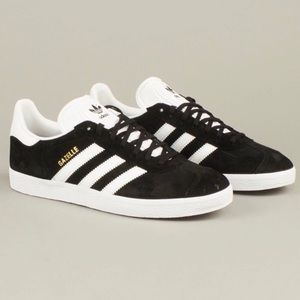 NWT Adidas Black And white Gazelle